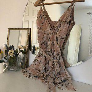 Floral/Ruffle Dress - Saints + Secrets